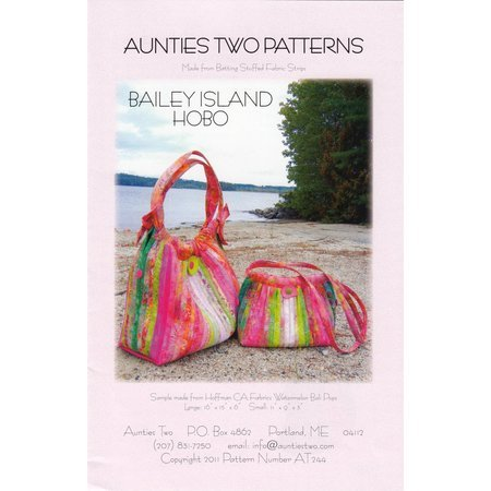Bailey Island Hobo Bag Pattern, Aunties Two Patterns