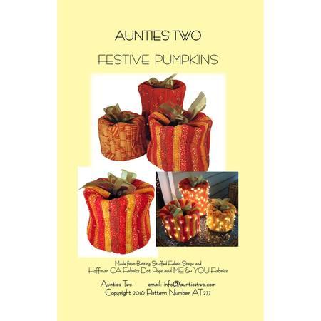 Festive Pumpkins Pattern, Aunties Two Patterns