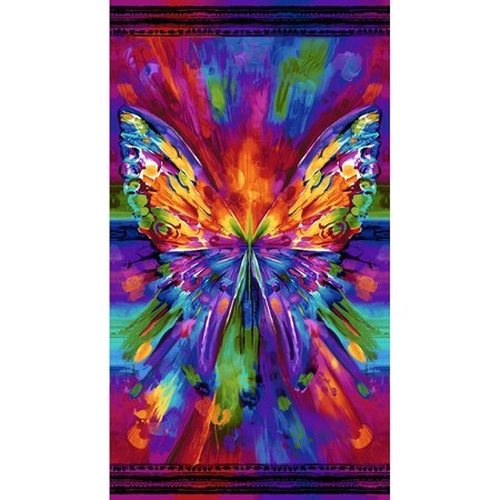 Chong-a Hwang, Abstract Butterfly Fabric Panel