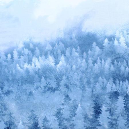 Robert Kaufman, Enchanted Pines, Pine Forest, Blue