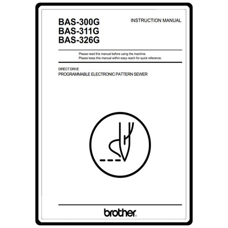 Instruction Manual, Brother BAS-300G
