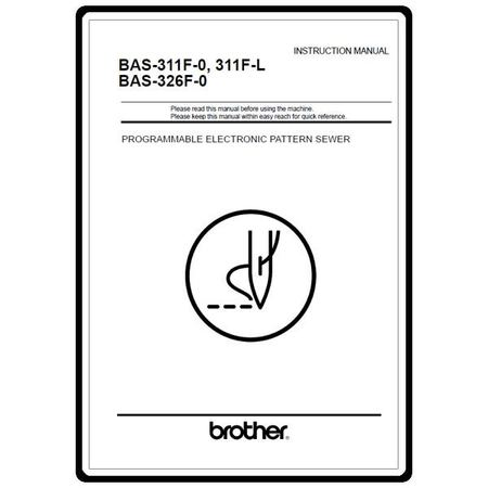 Instruction Manual, Brother BAS-326-0