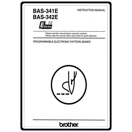 Instruction Manual, Brother BAS-342E