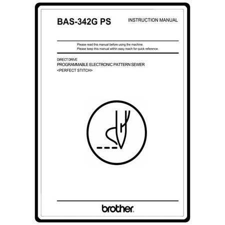 Instruction Manual, Brother BAS-342G PS