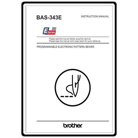 Instruction Manual, Brother BAS-343E