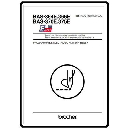 Instruction Manual, Brother BAS-370E