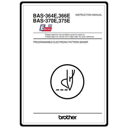 Instruction Manual, Brother BAS-375E