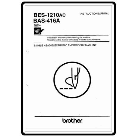Instruction Manual, Brother BAS-416A