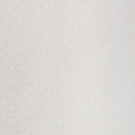 Tone on Tone, Floral Diamonds, White on White Fabric