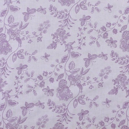 Floral Quilt Backing Fabric 108in, Purple