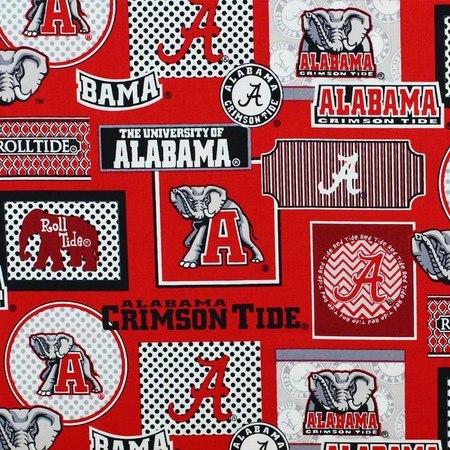 Alabama Crimson Tide Fabric, College Prints