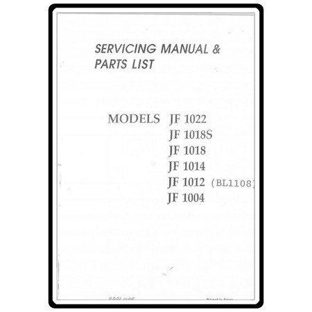 Service Manual, Babylock BL1108