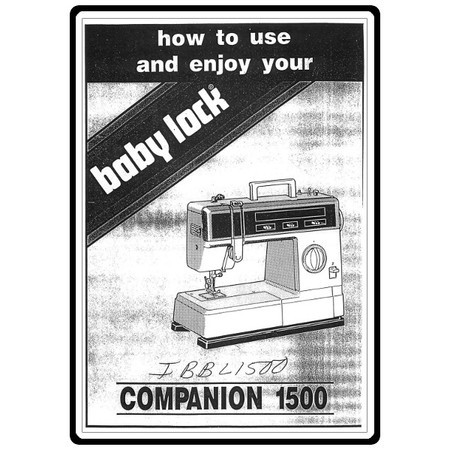 Instruction Manual, Babylock Companion BL1500