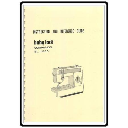 Instruction Manual, Babylock BL1550 Companion