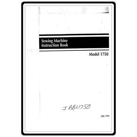 Instruction Manual, Babylock BL1750