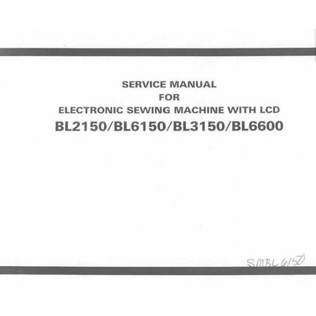 Service Manual, Babylock BL2150