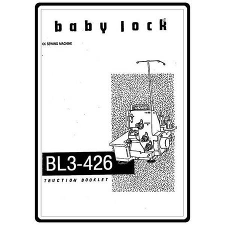 Instruction Manual, Babylock BL3-426