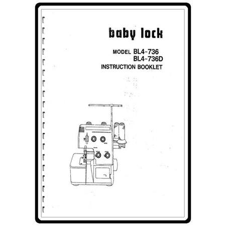 Instruction Manual, Babylock BL4-736D
