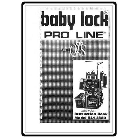Instruction Manual, Babylock BL4-838D
