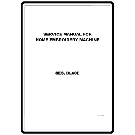 Service Manual, Brother BL60E