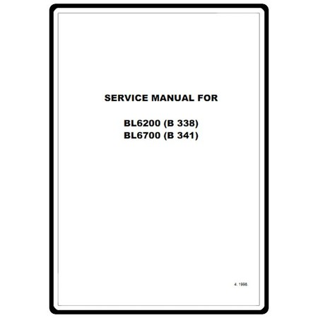 Service Manual, Babylock BL6700