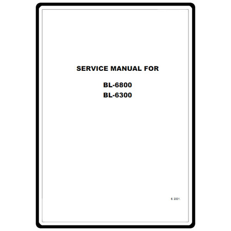 Service Manual, Babylock BL6800