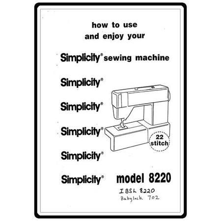 Instruction Manual, Babylock BL8020