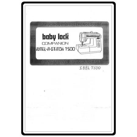 Instruction Manual, Babylock BL7500 Companion