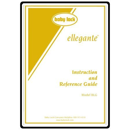Instruction Manual, Babylock Ellegante BLG