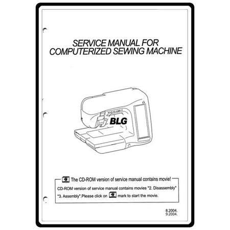 Service Manual, Babylock BLG Ellegante