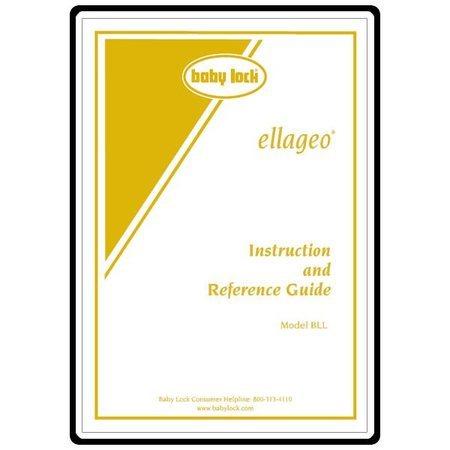 Instruction Manual, Babylock Ellageo BLL