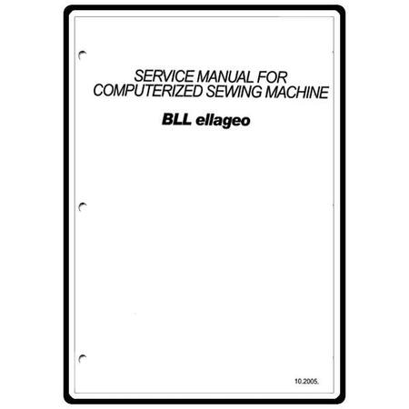 Service Manual, Babylock BLL Ellageo