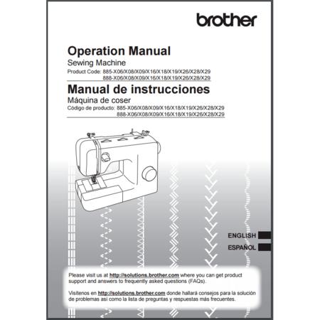 Instruction Manual, Brother BM3700