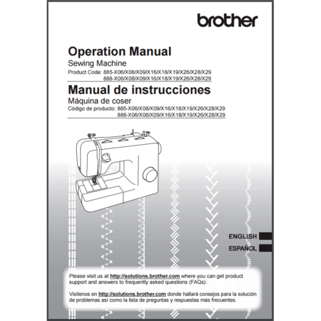 Instruction Manual, Brother BM3850