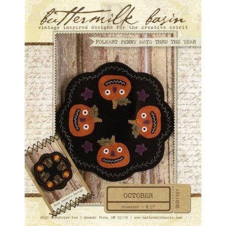 Folkart Penny Mats Pattern, Thru the Year, October