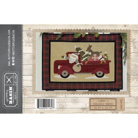 Santa S Holiday Truck Pattern Buttermilk Basin Sewing