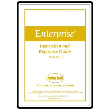 Instruction Manual, Babylock Enterprise BNT10