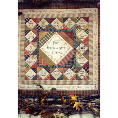 Thanksgiving Wall Quilt Pattern, Barri Sue Gaudet