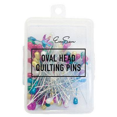 "144pk Oval Head Quilting Pins (2.16""), EverSewn"