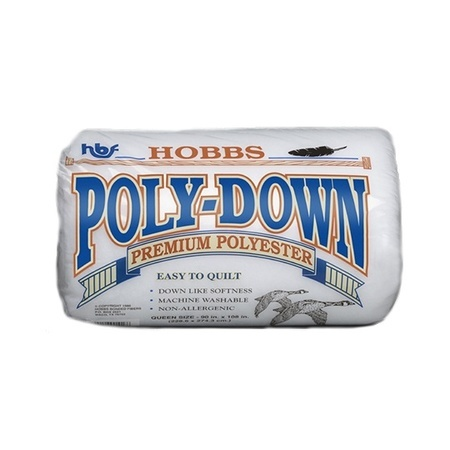 "Hobbs Poly-Down Premium Polyester Batting, 90""x108"" Queen"