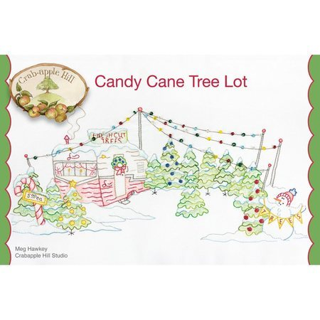 Candy Cane Tree Lot Hand Embroidery Pattern