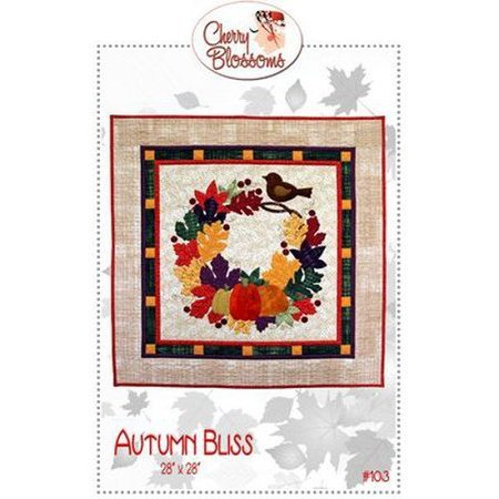 Autumn Bliss Wall Hanging Pattern, Cherry Blossom Quilting