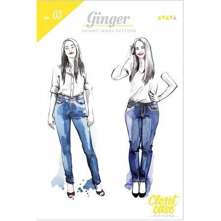 Ginger Skinny Jeans Pattern, Closet Case Patterns