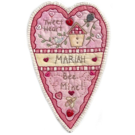 Vintage Valentines Pattern, Chickadee Hollow Designs