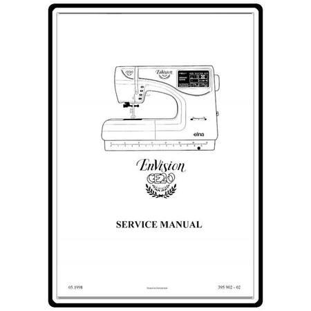 Service Manual, Elna CE20 EnVision