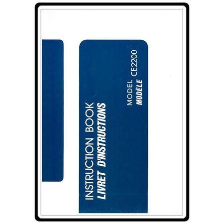 Instruction Manual, Janome CE2200