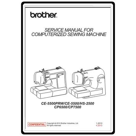 Service Manual, Brother CE5500