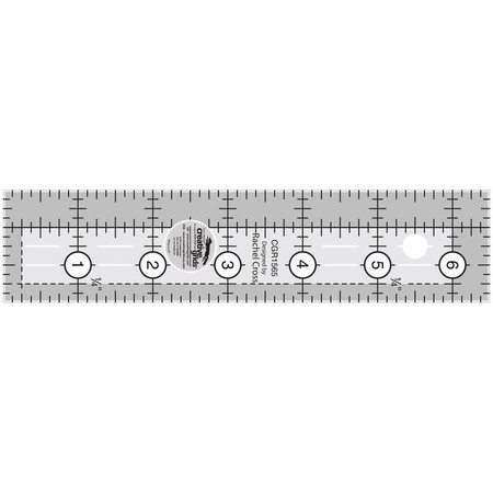 "Quilting Ruler 1-1/2"" x 6-1/2"", Creative Grids"