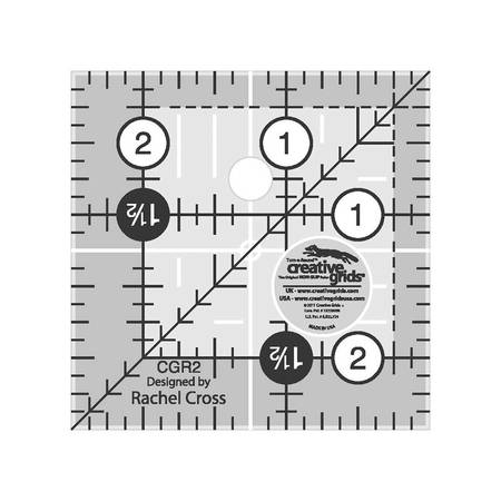 "Quilting Ruler 2-1/2"" Square, Creative Grids"
