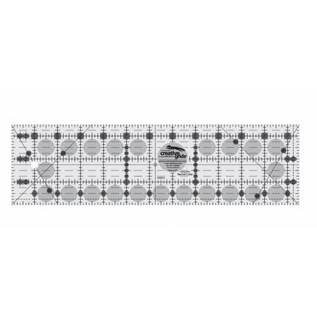 "Quilting Ruler 3-1/2"" x 12-1/2"", Creative Grids"